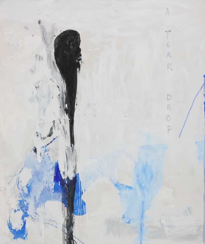 A tear drop, 2009, Mixed media on canvas, 250 x 300 cm