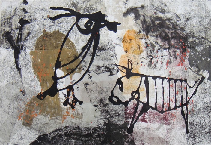 Untitled, 2009, Acrylic on paper, 70 x 100 cm