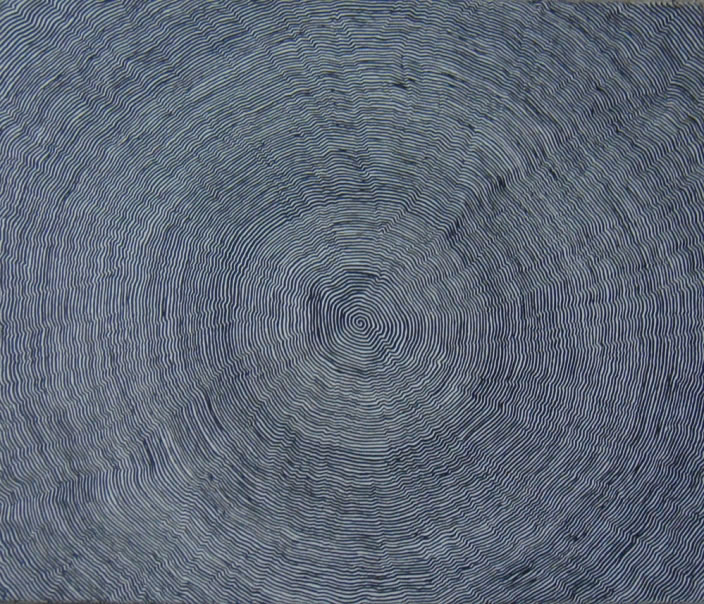 Small Organic Spiral, 2004, Ink on canvas, 46 x 55 cm