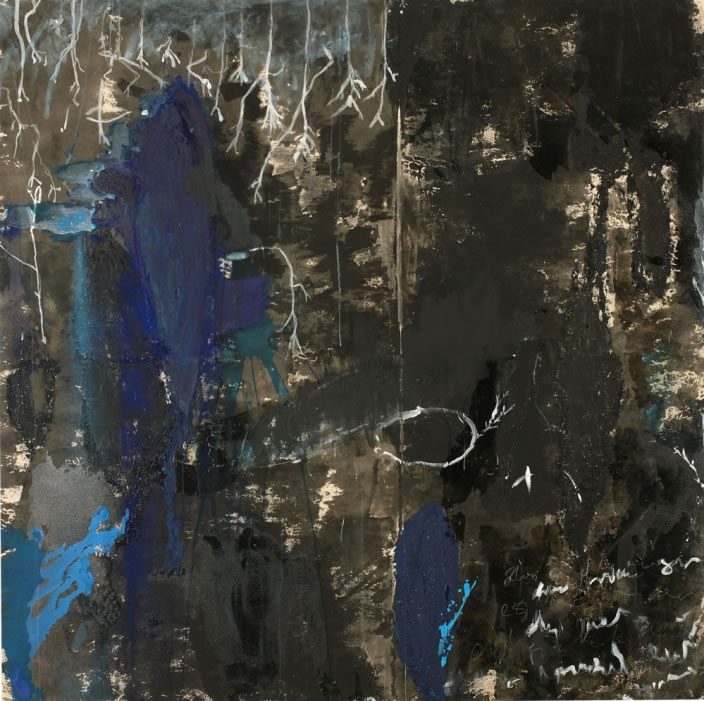 Fürr, 2009, Mixed media on canvas, 250 x 250 cm