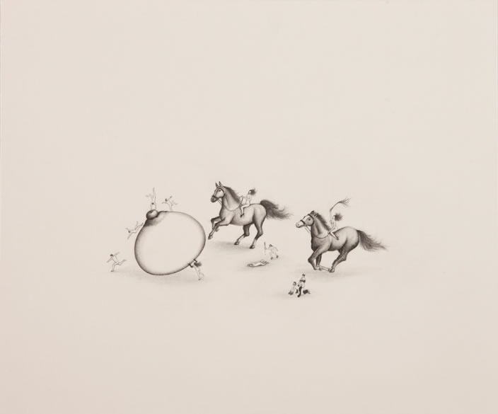 Desire Explosion, 2012, Pencil on paper, 20.5 x 24.5 cm