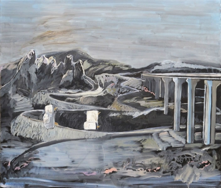 Bridge II, 2011, Oil paint on canvas, 61 x 70 cm
