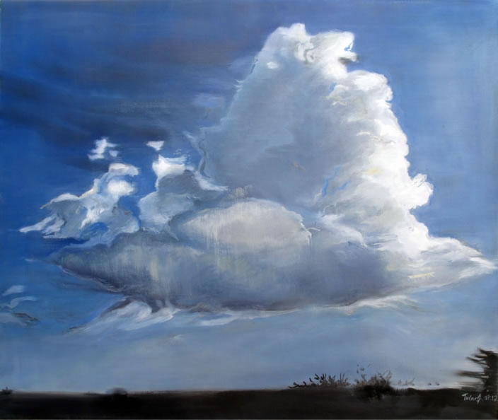 Cloud Painting I, 2012, Oil on canvas, 60 x 70 cm