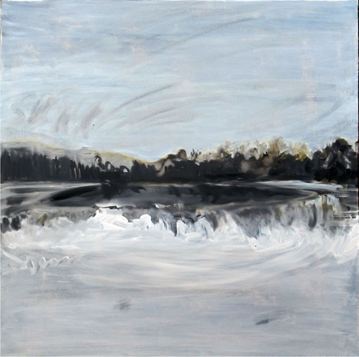 Lake, 2011, Oil paint on canvas, 76 x 76 cm