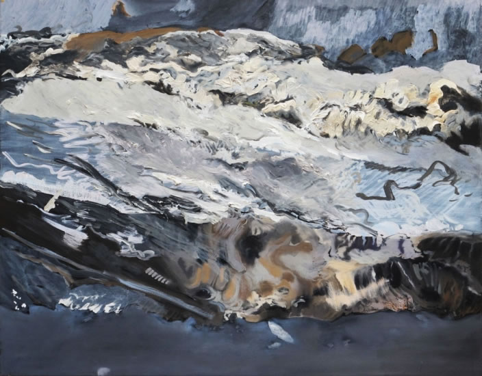 Wave, 2011, Oil paint on canvas, 55 x 70 cm