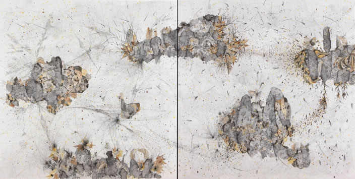 Necessary Affinities, 2012, Ink & aquarelle on paper, 150 x 150 cm