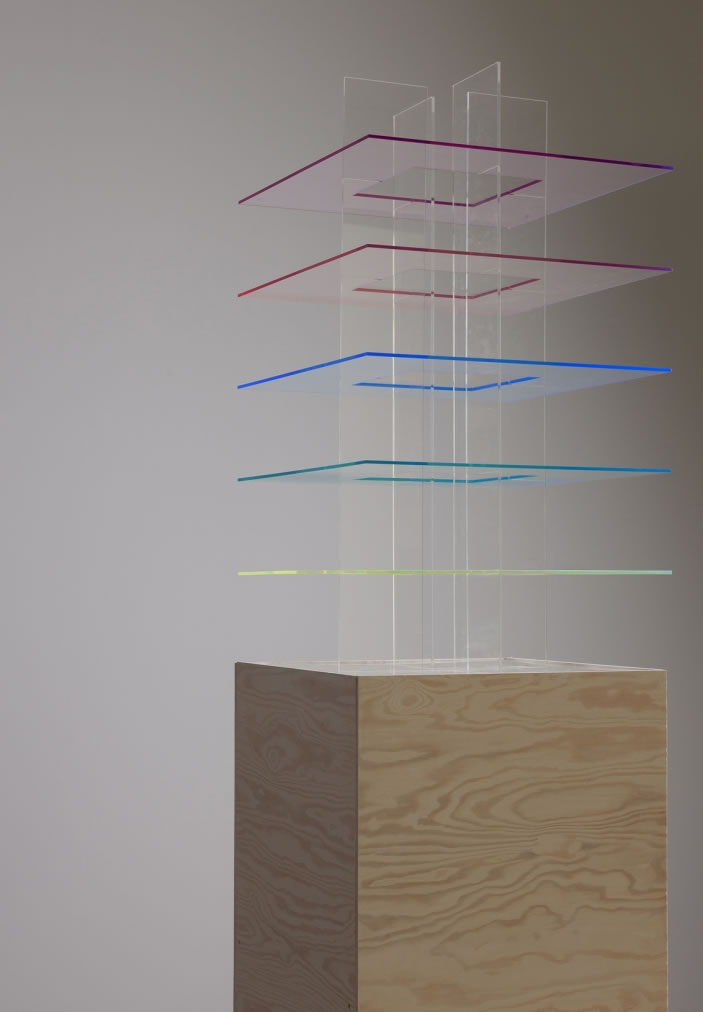 Repeat Your Rhythm, 2012, Wood, light & acrylic