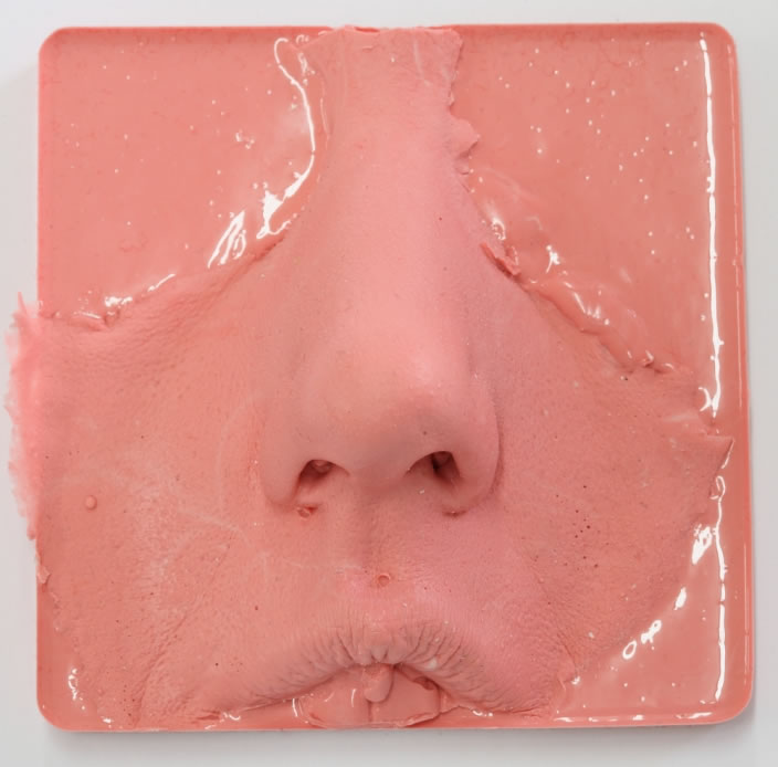 Archeology of the Nose, 2012, Silicone casts, 8.5 x 8.5 cm, unique editions