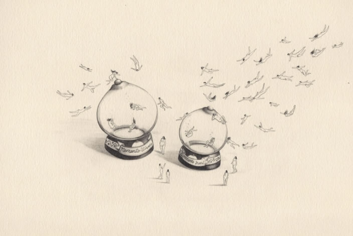 Emi Miyashita, Aquarium, 2011 Pencil on paper, 35 x 25 cm