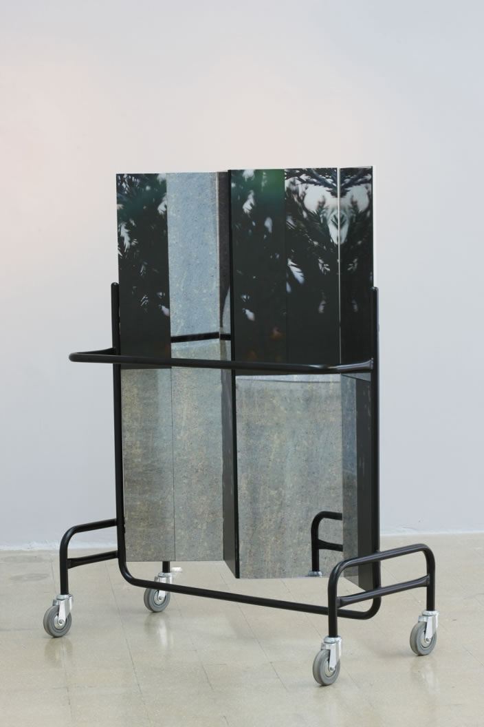 Stephanie Saade, Screen (Structure 1), 2012, 145 x 100 cm, mixed media