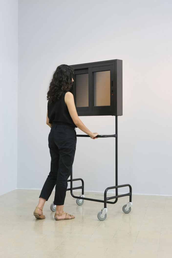 Stephanie Saade, Window (Structure 2), 2012, 170 x 90 cm, mixed media