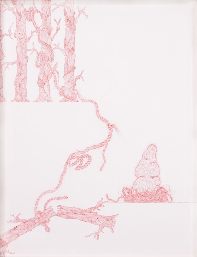 Hiba Kalache, they ought to count for something, 2009, Ink on paper, 50 x 70 cm