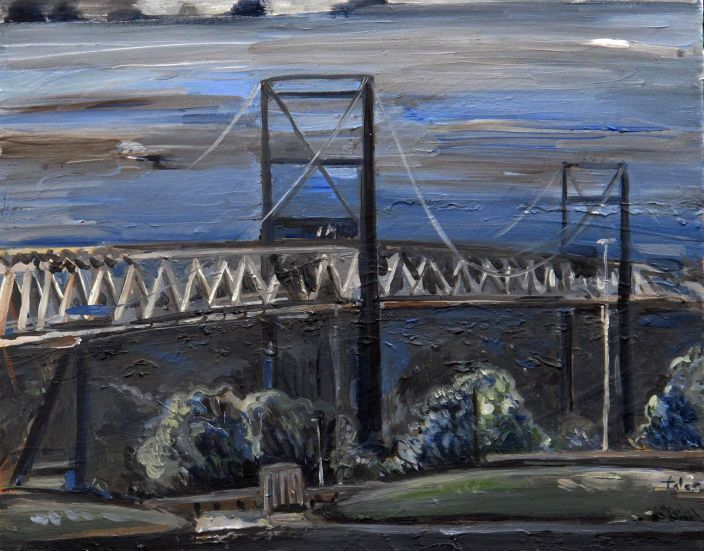 Bridge III, 2012, Oil paint on canvas, 40 x 50 cm
