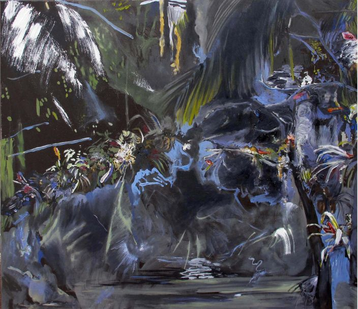 Jungle Wallpaper, 2011, Oil paint on canvas, 60 x 70 cm