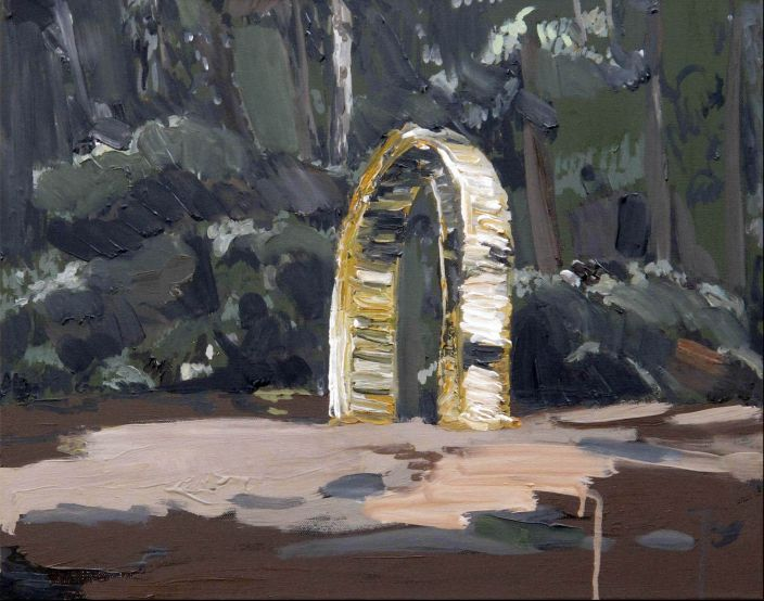 Arch III, Oil paint on canvas, 40 x 50 cm