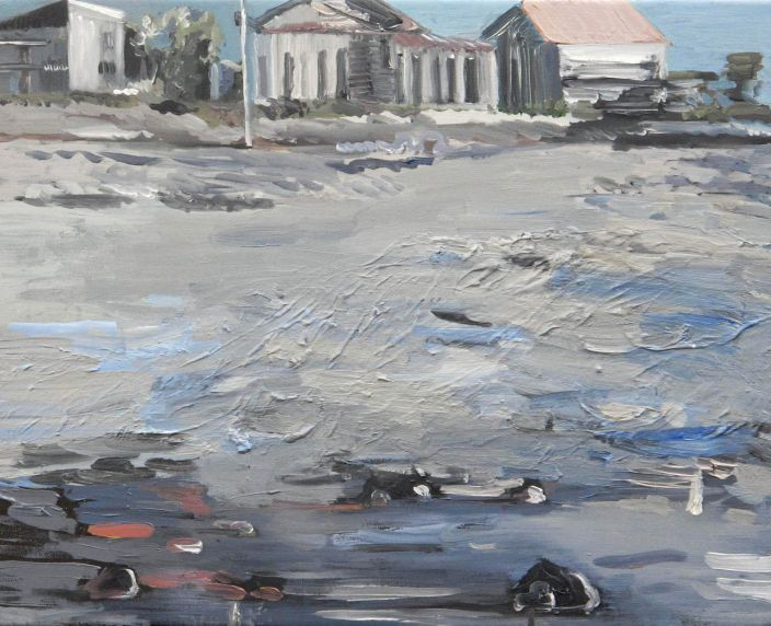 Beachside, 2012, Oil paint on canvas, 40 x 50 cm