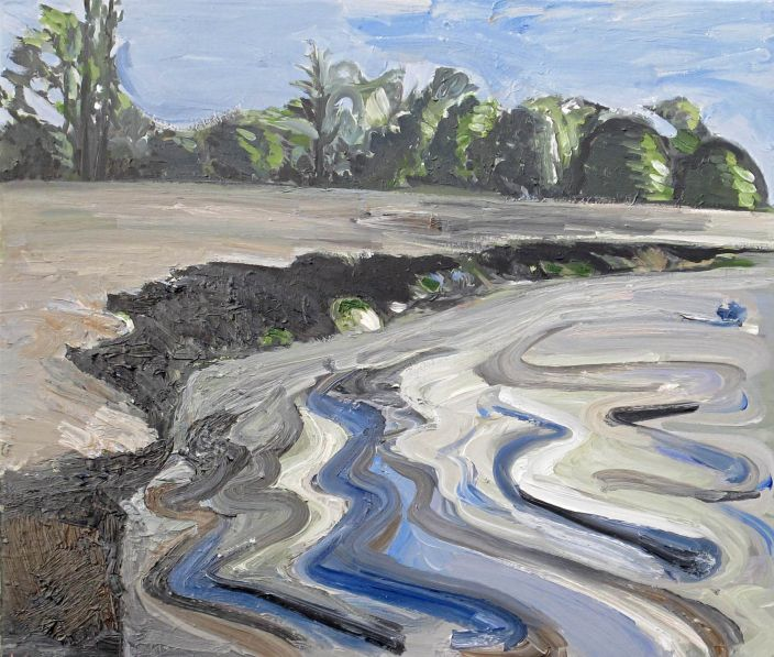 Flood IV, 2012, Oil paint on canvas, 70 x 75 cm