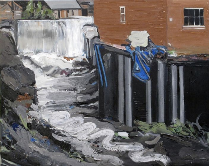 Flood II, 2012, Oil paint on canvas, 60 x 75 cm