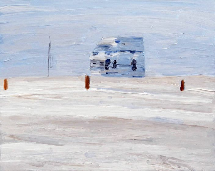 Ice cream van, 2013, Oil paint on canvas, 40 x 50 cm
