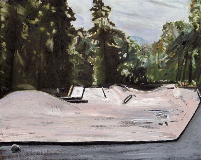 Skate Park, 2012, Oil paint on canvas, 40 x 50 cm